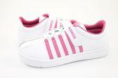 【K-SWISS】Classic Bounce VLC經典休閒鞋-童-白/粉紅55334-105