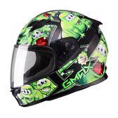 [東門城][預購] SOL SF-2 GM-49Y 精靈 黑/綠 內襯全可拆洗 全罩式安全帽
