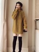連體毛衣高領毛衣裙女套頭針織衫上衣 秋冬新品 週年慶降價