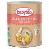 BABYBIO 有機寶寶米精-水果220g-法國原裝進口6個月以上嬰幼兒專屬副食品
