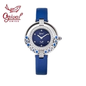 Ogival愛其華 流星系列-流光瀲灩珠寶錶-藍 380-45DLW