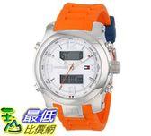 [103美國直購] Tommy Hilfiger 男式手錶 Men's 1790947 Cool Sport Analog-Digital and Orange Silicone Strap Watch $4172