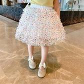 女童洋裝 2020女童半身裙兒童春夏裝小女孩蓬蓬短裙子公主洋氣網紗裙【快速出貨】