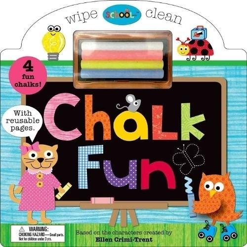 Schoolies:Wipe Clean Chalk Fun 粉筆塗鴉趣 硬頁書(美國版)