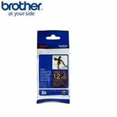 BROTHER 絲質緞帶標籤帶 12mm 海軍藍金字 TZe-RN34