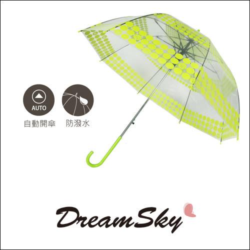 韓國環保阿波羅 自動傘 雨傘 雨具 直立傘 直傘 透明傘 兒童傘 幾何 圖案 輕巧 DreamSky
