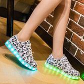髪光鞋鬼步鞋熒光女款led燈鞋可充電七彩青年運動閃光燈魔鬼步鞋 ys2390『時尚玩家』