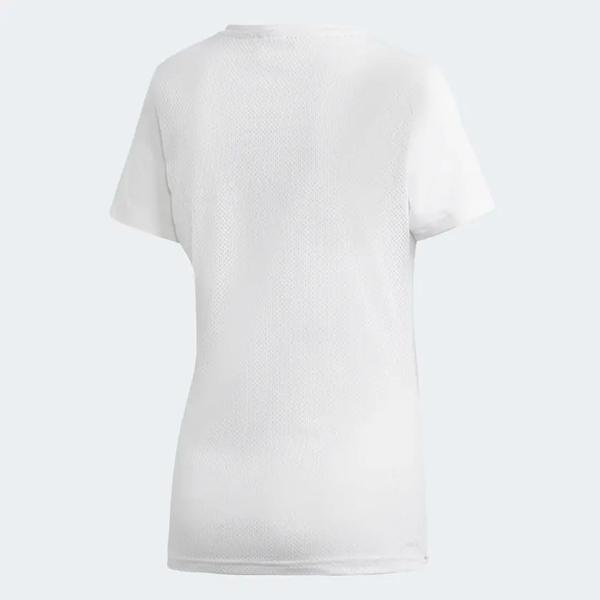 ADIDAS DESIGN 2 MOVE LOGO 女裝 短袖 休閒 慢跑 透氣 排汗 舒適 白【運動世界】DU2080