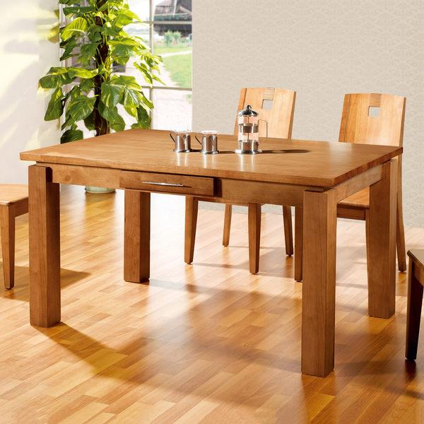 【森可家居】妙麗4.5尺全實木長方桌(不含椅) 7JF446-2