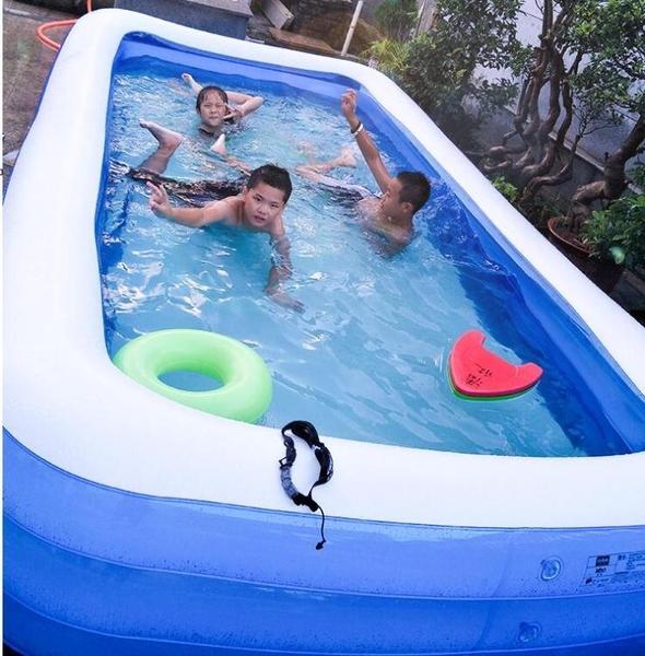 充氣泳池 兒童充氣游泳池家用成人超大號家庭兒童游泳桶加厚洗澡水池【快速出貨八折下殺】