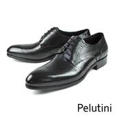 【Pelutini】頂級雕花德比紳士鞋 黑色(6380-BL)