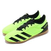 【海外限定】adidas 足球鞋 Predator 20.4 In Sala 螢光黃 黑 膠底 室內款 男鞋【ACS】 EH3005