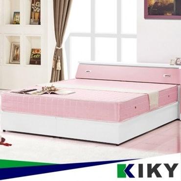 粉紅莉娜浪漫主義雙人兩件床組(床頭+床底)