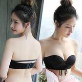 無肩帶內衣薄款聚攏防滑上托隱形文胸貼女婚紗抹胸式加厚夏季 QG3484『M&G大尺碼』