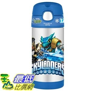 [美國直購] Thermos 兒童保溫水壺 寶貝龍冒險世界 12 Ounce Funtainer Bottle, Skylanders Swap Force