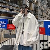 牛仔外套男休閒工裝夾克日系寬鬆衣服春秋季【左岸男裝】