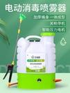 噴霧機 消毒專用電動噴霧器防疫背式鋰電池充電公司工廠幼兒園自動打藥機 米家WJ