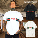 ToGetheR+【M2122】新潮百搭款RE'FUSIN條紋短袖上衣短T(二色)