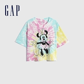 Gap女裝 Gap x Disney 迪士尼系列純棉紮染短袖T恤 782773-彩色紮染