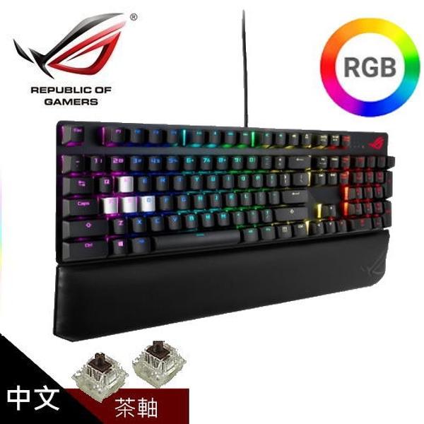 【ASUS 華碩】ROG Strix Scope Deluxe RGB 機械式電競鍵盤 [中文/茶軸]