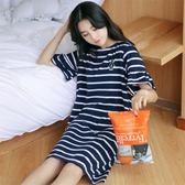 睡裙女夏韓版清新學生可外穿夏天可愛公主純棉短袖甜美睡衣