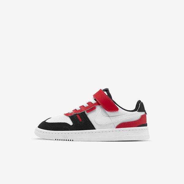 Nike Squash-type (PS) [CJ4120-101] 中童 休閒鞋 休閒 舒適 輕量 魔鬼氈 簡約 白黑