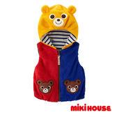 MIKI HOUSE 可愛普奇熊雙面穿連帽絨面背心(多色)