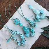 佛珠純天然高瓷原礦綠鬆石手串手鍊108顆佛珠小米珠散珠配飾男女正品 時尚新品