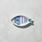 日本晴九谷燒 - 魚小盤 - 直線紋