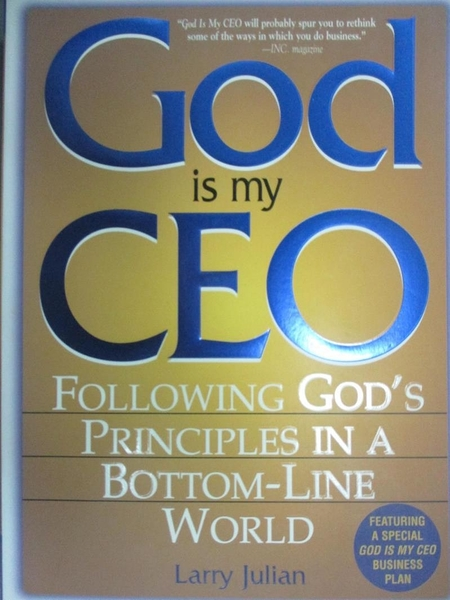 【書寶二手書T5/心理_ORD】God Is My Ceo: Following God's Principles in