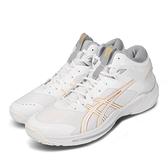 Asics 籃球鞋 Gelburst 24 2E Wide 寬楦頭 白 金 男鞋 高筒 緩震舒適 運動鞋 【ACS】 1063A014100