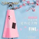 時尚韓版圍裙廚房防污做飯背帶罩衣咖啡店美甲美容院服務員工作服 草莓妞妞