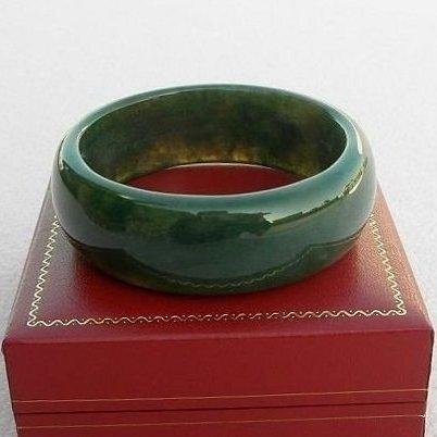 【歡喜心珠寶】【天然海草玉手鐲】鐲圍18.7圍手環「附保証書」碧玉加強親和力之最佳寶石