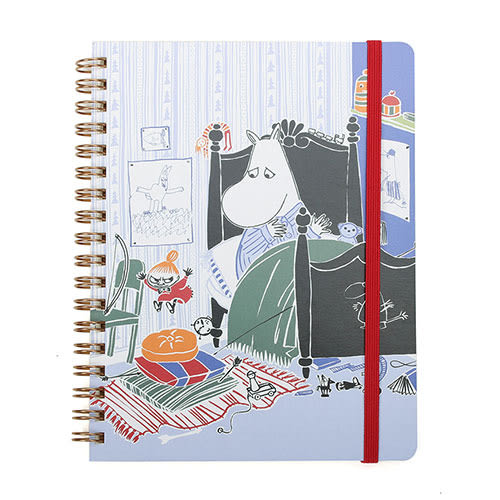 《Gakken》MOOMIN嚕嚕米B6線圈筆記本附束帶(臥室)_GK13417