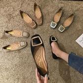 豆豆鞋 單鞋女鞋子奶奶平底晚晚秋季新款百搭新款黑色仙女豆豆鞋秋款