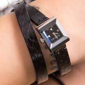 Gucci G-FRAME 個性女士黑色蛇紋雙圈腕錶 YA128526 熱賣中!