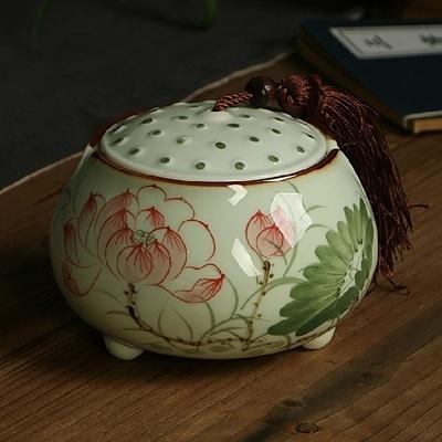 茶葉罐-手繪陶瓷密封保鮮存放泡茶品茗花茶罐4款69ab43【時尚巴黎】