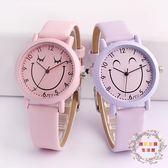 正韓時尚潮流可愛兒童手錶女孩男孩中小學生女童電子石英錶防水皮XW全館免運