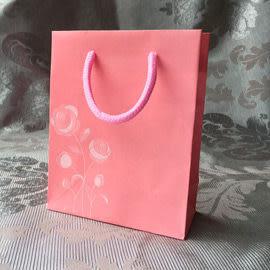 婚禮小物 粉紅玫瑰浮雕手提袋 - 禮物袋/送客禮/婚禮小物 幸福朵朵