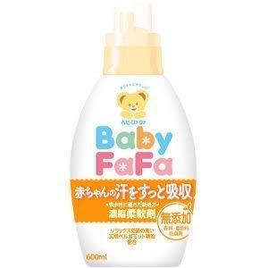日本製 Baby FaFa熊寶貝 新生兒衣物可用 濃縮柔軟精 600ml