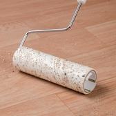 粘毛器地板粘毛器可撕式伸縮桿粘塵紙清潔衣服毛發滾刷滾筒氈黏沾毛神器 BASIC HOME