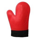 港森2只裝防燙硅膠微波爐加棉隔熱手套烤箱耐高溫廚房防熱五指