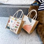 日系帆布包女包包2020夏天新款潮韓版百搭斜背包手提包少女小布包 黛尼時尚精品