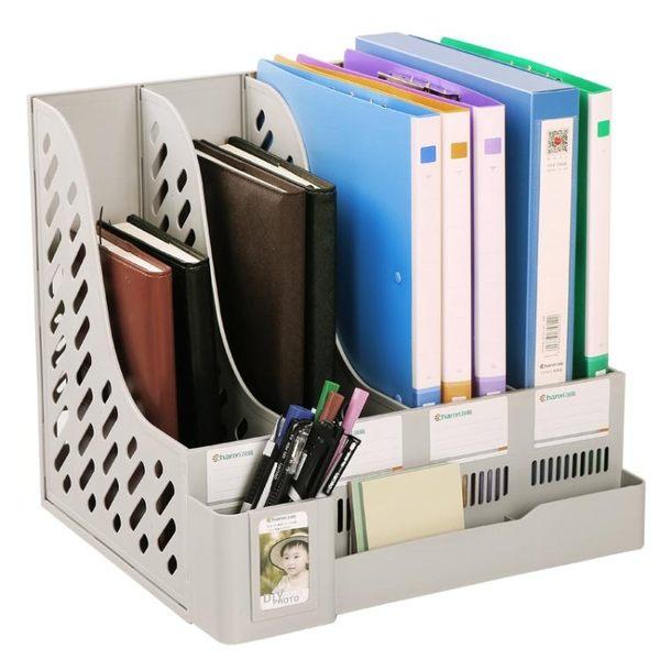 萬聖節優惠-【五折價$288元】文件架四聯文件框資料架文件欄文件筐收納BLNZ