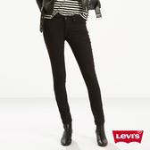 Levis 女款 711 中腰緊身窄管牛仔褲 / 彈性布料 / 簡約黑皮牌