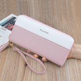 長皮夾 女士長款拉鏈多功能韓版小清新大容量皮夾LJ8742『miss洛羽』