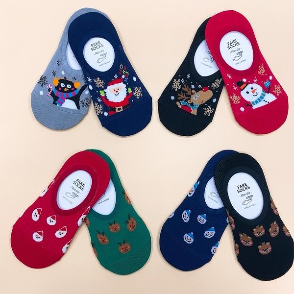 聖誕節 聖誕襪子 麋鹿 聖誕老人 雪人 交換禮物 韓國襪子 矽膠防滑隱形襪