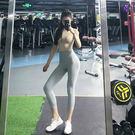蜜桃翹臀緊身女高腰運動褲七分健身八分褲彈力提臀薄夏瑜伽長褲秋