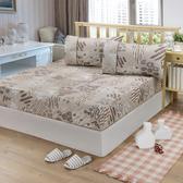 【FITNESS】精梳棉單人床包+枕套二件組-塗鴉樂(咖)