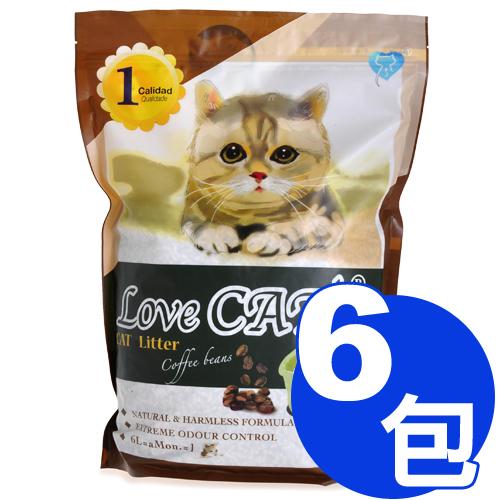 新寵愛-咖啡環保豆腐貓砂6L x6包